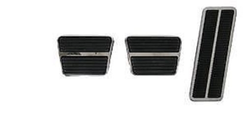 Corvette Clutch (CORVETTE Clutch Brake & Gas Pedal Pad Set W/ Stainless Steel Trim)