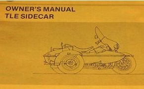 (1988 1989 1990 Harley Davidson TLE Ultra Sidecar Owners Manual Supplement NEW)