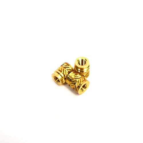 ([ J&J Products, Inc ] M3 Brass Insert 100pcs,5.5mm OD, 3.8mm Length, Female M3 Thread, Press Fitting or Heat Sink or Injection Molding Type, 100 pcs)