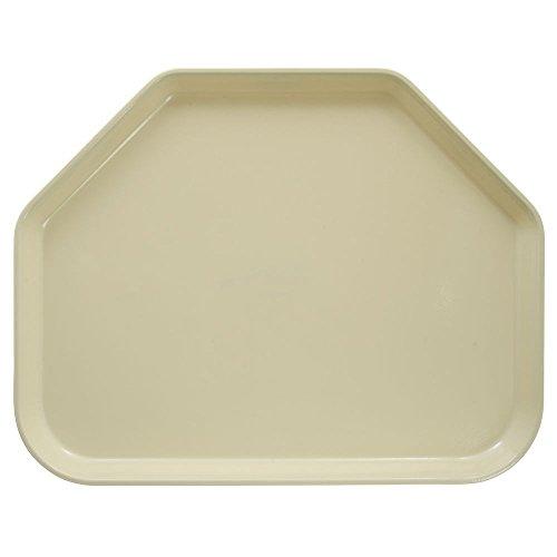 Cambro Camtray Trapezoid Lemon Chiffon Fiberglass Tray - 18