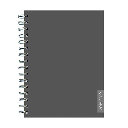 "TF Publishing 19-9271A July 2018 - June 2019 Charcoal Medium Weekly Monthly Planner, 6.5 x 8"", Gray"