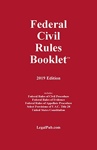 2019 Federal Civil Rules Booklet (For Use With All Civil Procedure and Evidence Casebooks) (Com Com Com Com Com Com Com Com)