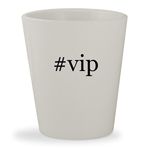 Price comparison product image #vip - White Hashtag Ceramic 1.5oz Shot Glass