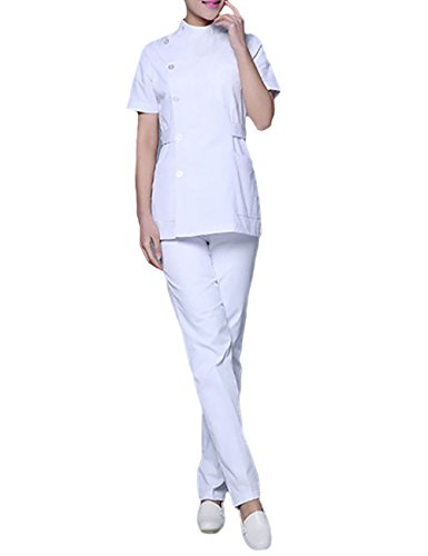 THEE Doctor Nurse Uniform Clothing Short Sleeve Nursing Gown ()