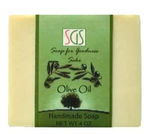 Soap for Goodness Sake Olive Oil Soap I with Organic Extra Virgin Olive Oil