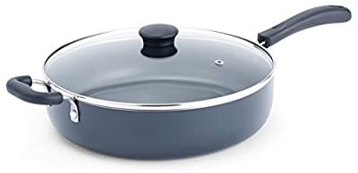 T-fal A9108263 Specialty Nonstick Dishwasher Safe PFOA Free Jumbo Cooker Cookware with Glass Lid