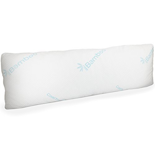 U Support Body Pillow Comfort (Memory Foam Body Pillow with Bamboo Cover | Large Firm Pillow for Adults with Pillowcase | Snuggle in Comfort | Pregnancy & Maternity Support | Back Side & Stomach Sleeping | Full Queen King Bed)