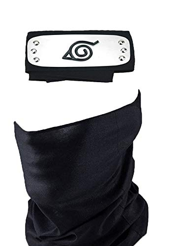 - Master Online Naruto Headband, Leaf Village Headband and Unisex Hatake Kakashi Cosplay Mask Veil
