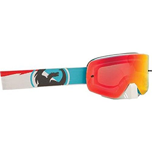 Ionized Goggles - Dragon Alliance Incline Unisex NFXS Off-Road Motorcycle Goggles Eyewear, Red Ionized, One Size