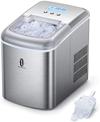 TaoTronics Ice Maker Countertop Machine with LCD Display, Self-Cleaning Function, 9 Bullet Ice Cubes Ready in 6-9 Mins, 22lbs/24H, 2.1L Electric Ice Maker with Scoop Basket for Home Kitchen Office Bar