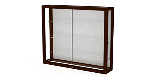 Waddell 890M-WB-C Heirloom 36 x 30 x 8 in. Wall Case with Hardwood 3 Shelves44; White Back - Cordovan