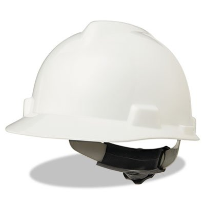 V-Gard Hard Hats, Fas-Trac Ratchet Suspension, Size 6 1/2 - 8, White, Sold as 1 Each