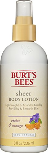 Burt's Bees Sheer Body Lotion, Violet and Mango, 8 Fluid Ounces (Pack of ()