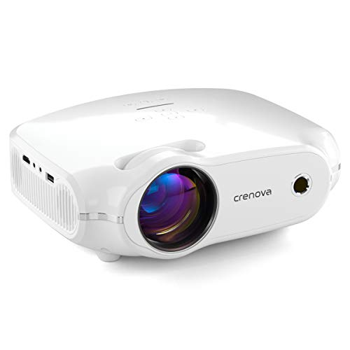 crenova Video Projector, Mini Home Movie Projector with 200