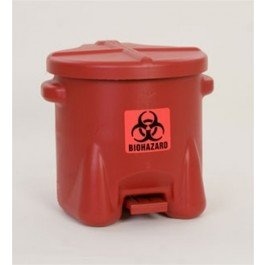 Eagle 945BIO Red Biohazard Waste Can, 10 Gallon