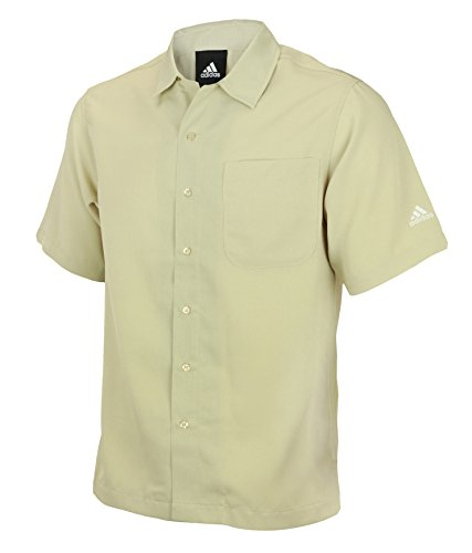 Mens Adidas Short Sleeve Button Down (Tennis Button)
