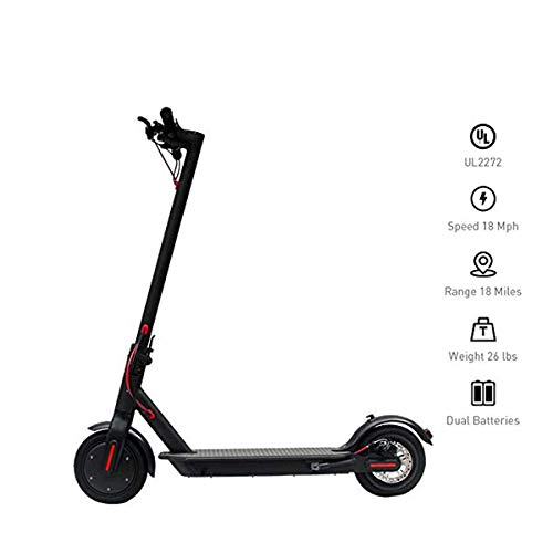 YDS Electric Scooter, 8.5-inch Vacuum Tire Foldable Commuter Upgraded, Suitable for Adults Kids (US Version Warranty) (Black)