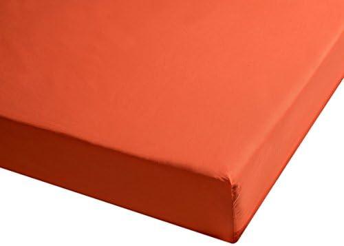 Sancarlos - Sábana bajera , 100% Algodón percal, Color naranja ...