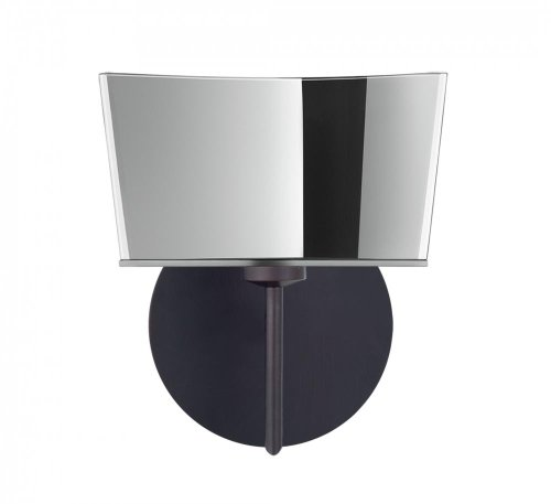 Besa Lighting 1SW-6773MR-BR 1X40W G9 Groove Wall Lighting Fixture with Mirror-Frost Glass, Bronze Finish (Frost Bronze Table Lamp)