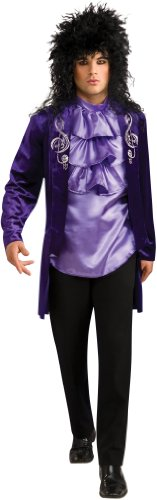 Rubies Glam Rock Star 70s 80s Mens Prince Halloween Costume - 80s Glam Wig