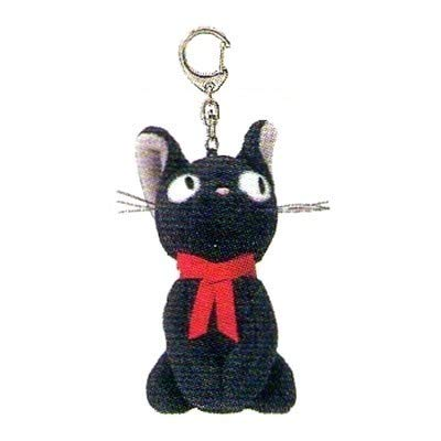 Kiki's Delivery Service Stuffed Mascot Key Ring Sitting Jiji /Studio Ghibli