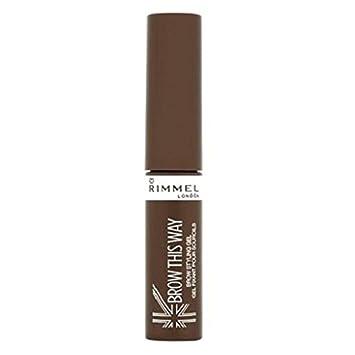 49f1409b1 Amazon.com  (3 Pack) RIMMEL LONDON Brow This Way Eyebrow Gel - Medium Brown   Beauty