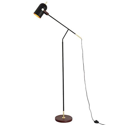 floor lamp Nordic minimalist modern minimalist leather iron fashion living room study bedroom floor lamp A+ by Floor lamp