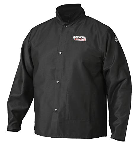 Lincoln Electric Premium Flame Resistant (FR) Cotton Welding Jacket | Comfortable | Black | Medium | K2985-M