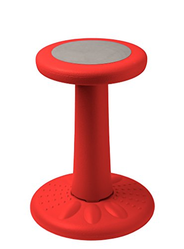 Active Kids Chair – Wobble Chair Juniors/Pre-Teens (Grades 3-7) - Age Range 7-12 - Flexible Seating Classroom - 17.75'' Tall - Helps ADD/ADHD - Corrects Posture – Red by Comfify