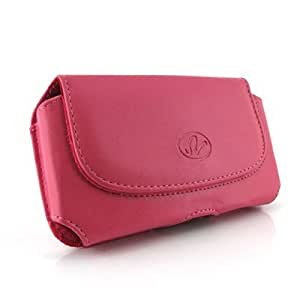 Pink Color Horizontal Imitation Leather Cover Belt Clip Side Case Pouch For HTC EVO Design 4G Hero Kingdom