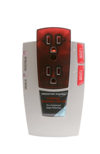 Monster Power PRO 200 Audio PowerCenter – 2 Outlet Surge Protector