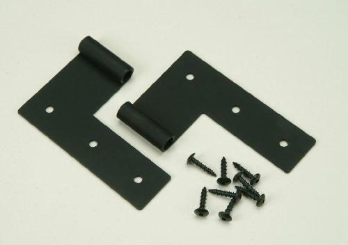 Zero Offset Flat Hinge for Exterior Shutters, Stainless Steel (Pair)