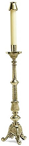 Europa Collection Polished Tall Altar Church Candlestick, 24 Inch by Europa Collection