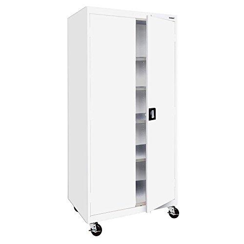 (Sandusky Lee TA4R362472-22 Transport Series Mobile Storage Cabinet, White)
