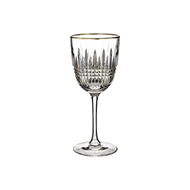 Waterford Lismore Diamond Gold Goblet, Single by Waterford