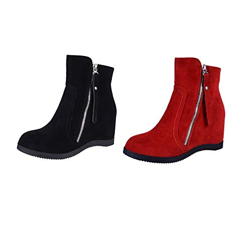 Chaudes Décontractées Femme D'hiver Chaussures Coton Vcb Noir 39 En Courtes Bottes Fa00Aqx