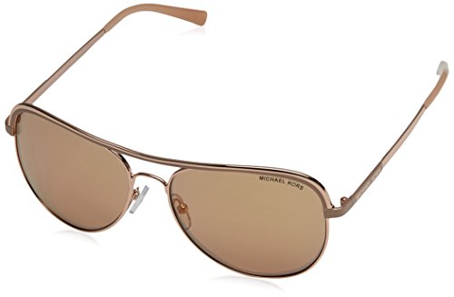 Michael Kors Women MK1012 58 VIVIANNA I Rose Gold/Pink Sunglasses - Michael Kors Sunglasses Pink