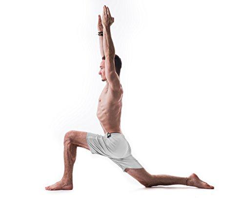 cd878e7e44 Yoga Crow Mens Swerve Shorts w/Odor-Resistant Inner Liner (Light Grey,