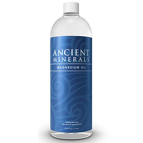Ancient Minerals Magnesium Oil Refill Bottle of Pure Genuine Zechstein Magnesium Chloride - Topical Magnesium Supplement for Skin Application and Dermal Absorption (33.8oz)