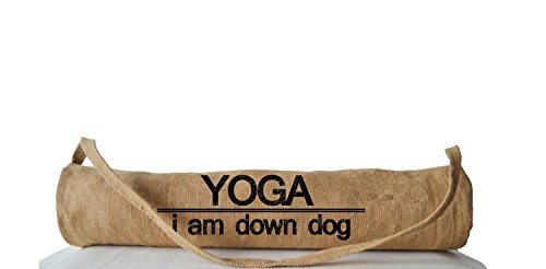 Amore Beaute Handcrafted Customized Yoga Mat Bag Yoga Totes for Yogis Accessories Yoga Sling Totes Printed Yoga Backpacks I Am Down Dog Present Gift for Her, Him