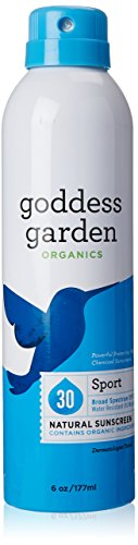 Goddess Garden Organics Sport SPF 30 Natural Sunscreen, Continuous Spray, 6 Ounce