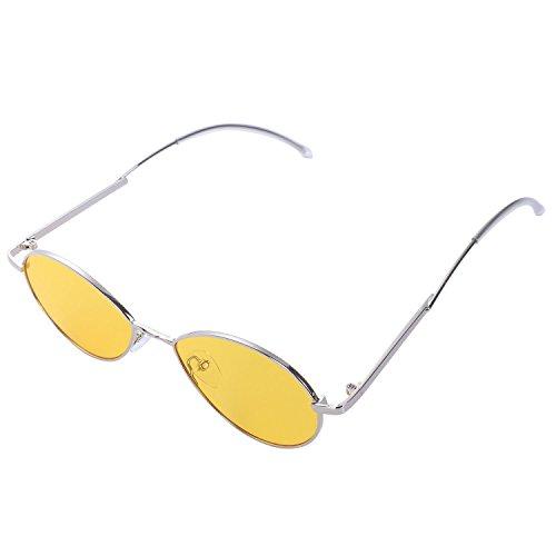 sol de Oval de plegado Espejo Alta marca de Negro TOOGOO de Pierna la Moda lujo de Gafas sol Amarillo Sombras Mujeres Gafas Disenador calidad Tq76xw