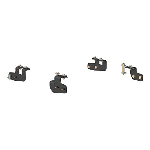 CURT 16427 Black 5th Wheel Hitch Installation Brackets for Select Dodge Ram 2500, 3500