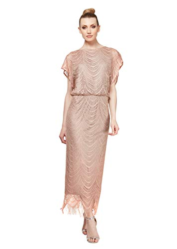 Women's Metallic Crochet Dress