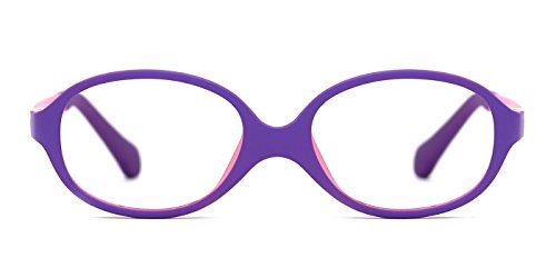 TIJN Baby Oval Comfortable Flex Eyeglasses - Toddler Eye Frames