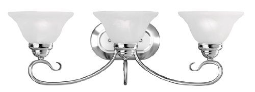 Livex Lighting 6103-05 Coronado 3 Bath Light, Chrome