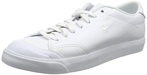 Homme Homme Homme Blanc Sneakers Court white Nike All All All black Basses white Leather Low 2 0x4qUw