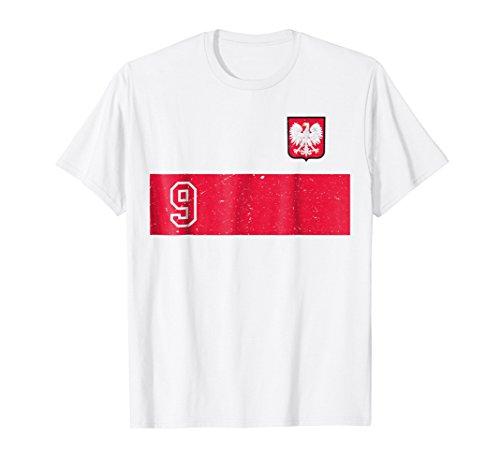 Retro Poland Soccer Jersey Polska Football T-Shirt white ()
