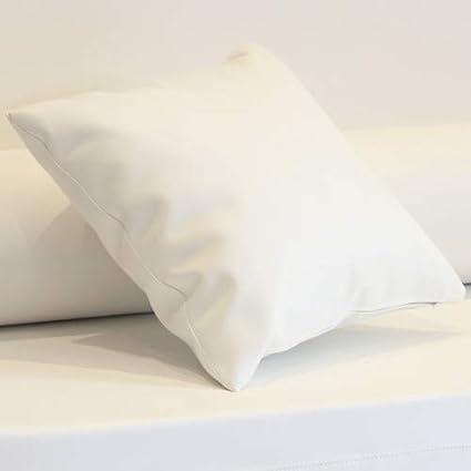 Cojín enfundado en Polipiel Náutico para Sofá Palet (Blanco ...