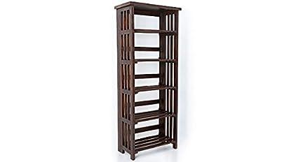 Urban Ladder Rhodes Solid Wood Book Shelf (Mahogany)